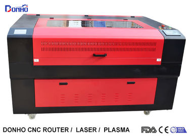 Red Protective Cover CO2 Laser Cutter , CNC Laser Cutting Machine For Acrylic