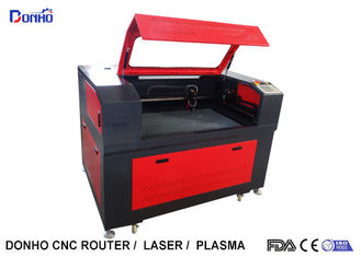Black And Red Fabric Laser Cutting Machine with Honey Comb Table For Wood Engraving